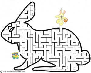 photo about Easter Maze Printable named Easter Video games For Little ones